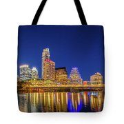 Skyline Of Downtown Austin Tote Bag