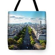 Skyline Of Paris, France Tote Bag