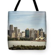 Skyline Of Sydney Downtown  Viewed From Taronga Hill, Australia Tote Bag