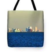 Skyline Of Tampa Bay Florida Tote Bag