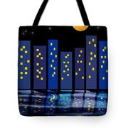 Skyline Reflections Tote Bag