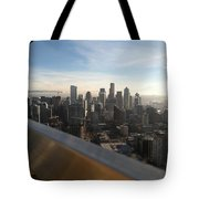 Skyline With A Purpose Tote Bag
