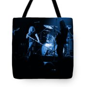Skynyrd Sf 1975 #10 Crop 2 Enhanced In Blue Tote Bag