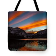Skys Of Color Tote Bag