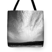 Skyscape At Carmel Beach B And W Tote Bag
