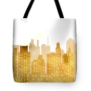 Skyscrapers - Panorama Of Modern Skyscraper Town Tote Bag