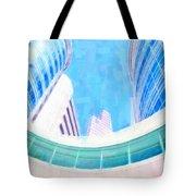 Skyscrapers Against Blue Sky Tote Bag