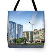 Skyscrapers And Road In Downtown Xiamen City China Tote Bag