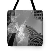 Skytops Manhattan Black And White Tote Bag