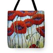 Skyward Poppies Tote Bag