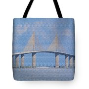 Skyway Bridge Tote Bag