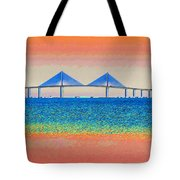 Skyway Morning Tote Bag by David Lee Thompson