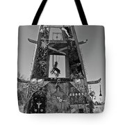 Slab City Museum Tower Bw Tote Bag