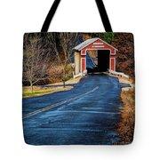 Slate Covered Bridge Tote Bag