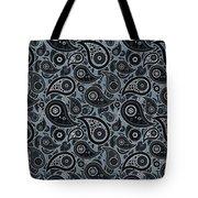 Slate Gray Paisley Design Tote Bag
