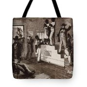 Slave Auction In Virginia Tote Bag by Photo Researchers