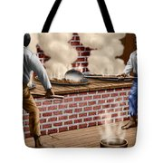 Slaves Refining Sugar Cane Jamaica Train Historical Old South Americana Life  Tote Bag