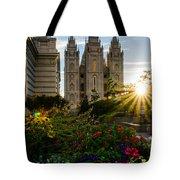 Slc Temple Sunburst Tote Bag