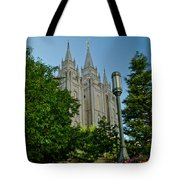 Slc Temple Walk Tote Bag by La Rae  Roberts