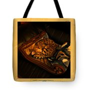 Sleeping Cat Digital Painting Tote Bag