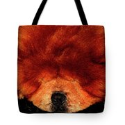 Sleeping Chow Chow Tote Bag