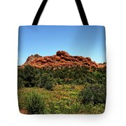 Sleeping Giant At The Garden Of The Gods Tote Bag
