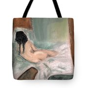 Sleeping In The Nude Tote Bag