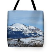 Sleeping Indian Mountain Tote Bag