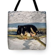 Sleeping Puppy Tote Bag