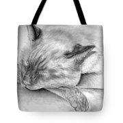 Sleeping Siamese Tote Bag
