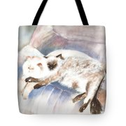 Sleeping Together Tote Bag