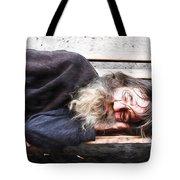 Sleeping Wizard Tote Bag