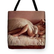 Sleeping Woman Tote Bag by Johann Baptist Reiter