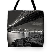 Sleepless Nights And City Lights Tote Bag by Evelina Kremsdorf