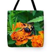 Sleepy Bumblebee Tote Bag