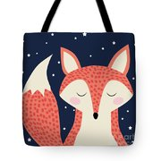Sleepy Fox Tote Bag