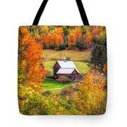Sleepy Hollow Farm In Fall Tote Bag