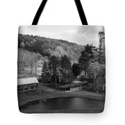 Sleepy Hollows Farm Woodstock Vermont Vt Pond Black And White Tote Bag