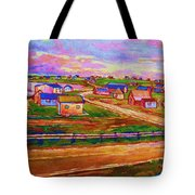 Sleepy Little Village Tote Bag
