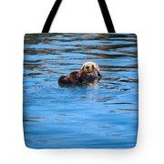 Sleepy Otter Tote Bag