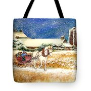 Sleigh Ride At Brickers Tote Bag