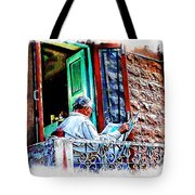 Slice Of Life Sunny Sunday Morning Newspaper India Rajasthan Udaipur 2a Tote Bag