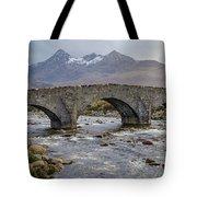 Sligachen Bridge And The Black Cullin, Isle Of Skye Tote Bag
