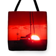 Slipping Over The Edge Tote Bag