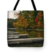 Slips In Autumn Tote Bag
