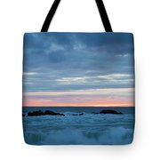 Sliver Of Pink At Moonstone Beach Tote Bag