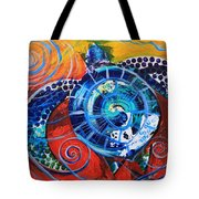 Slopical Tropical Sea Turtle Tote Bag