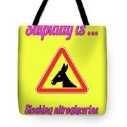 Sloshing Bigstock Donkey 171252860 Tote Bag