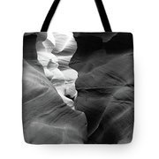 Slot Canyon Black And White Tote Bag