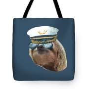 Sloth Aviator Glasses Captain Hat Sloths In Clothes Tote Bag